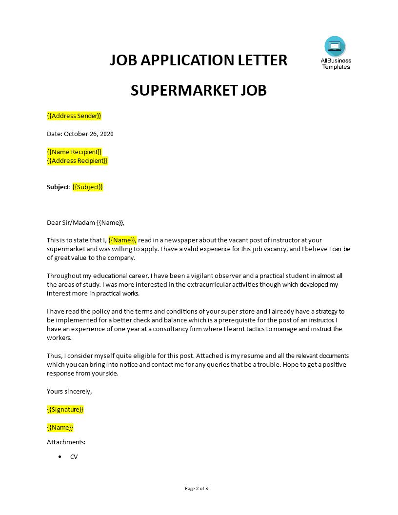 Application Job Work In Retail