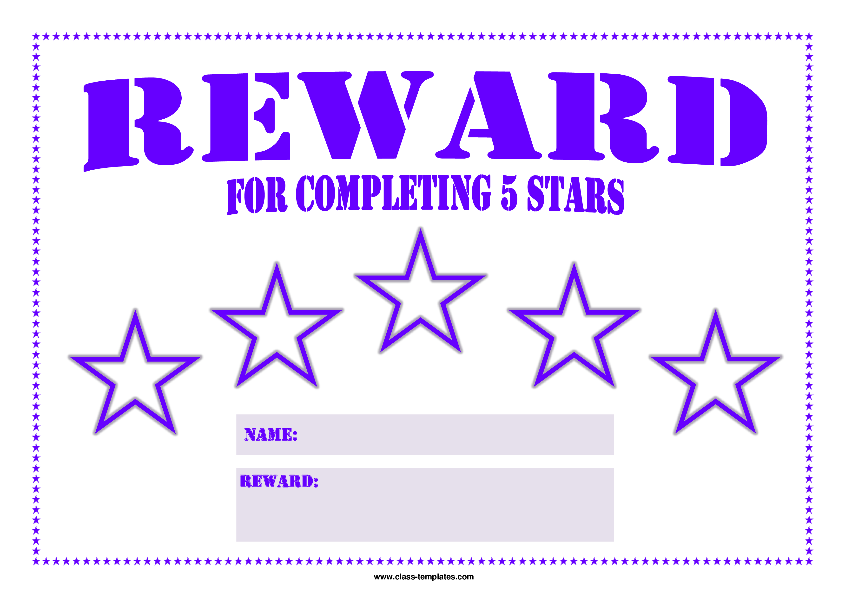 reward chart templates
