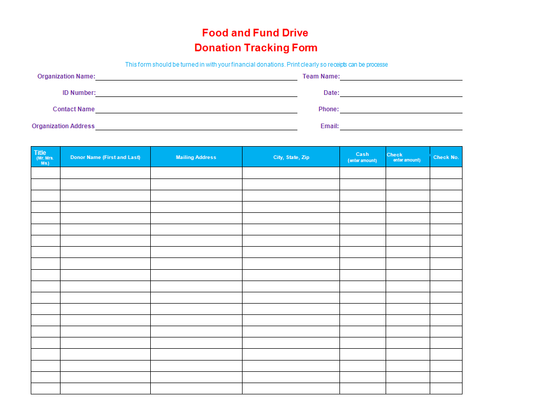 donation tracker worksheet excel main image