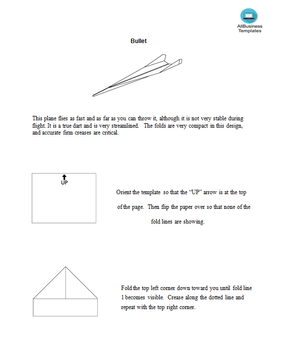 free paper airplanes that fly templates at