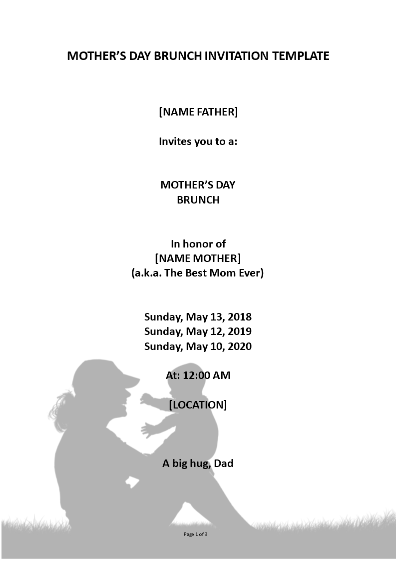 Free Mothers Day Event Invitation | Templates at ...