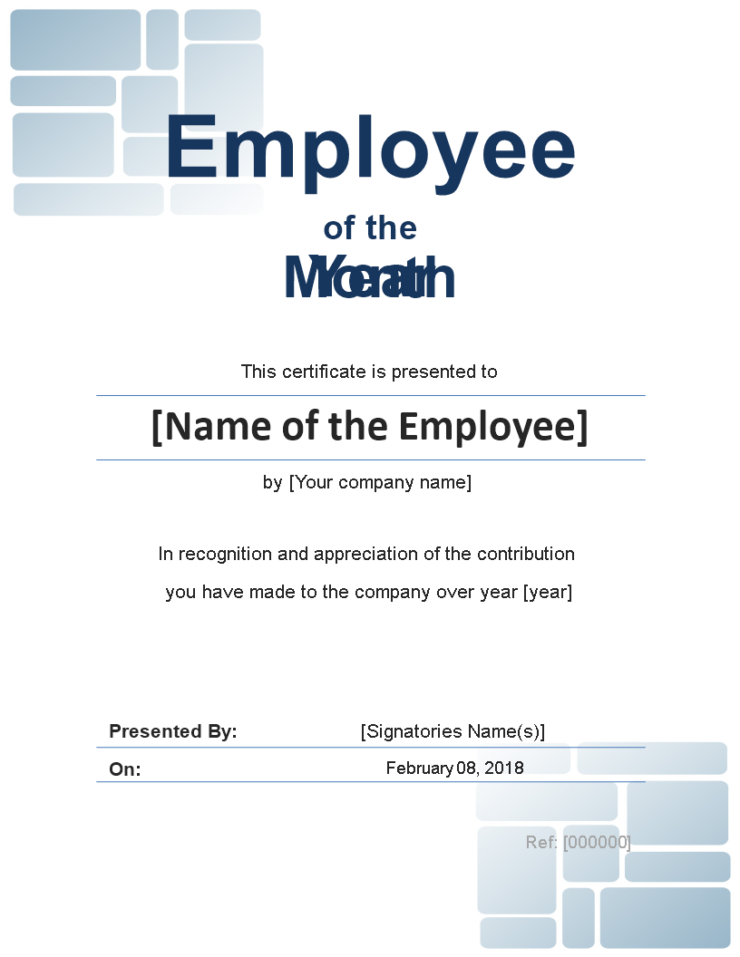 Free Employee Of The Month Certificate Photo Portrait Templates At