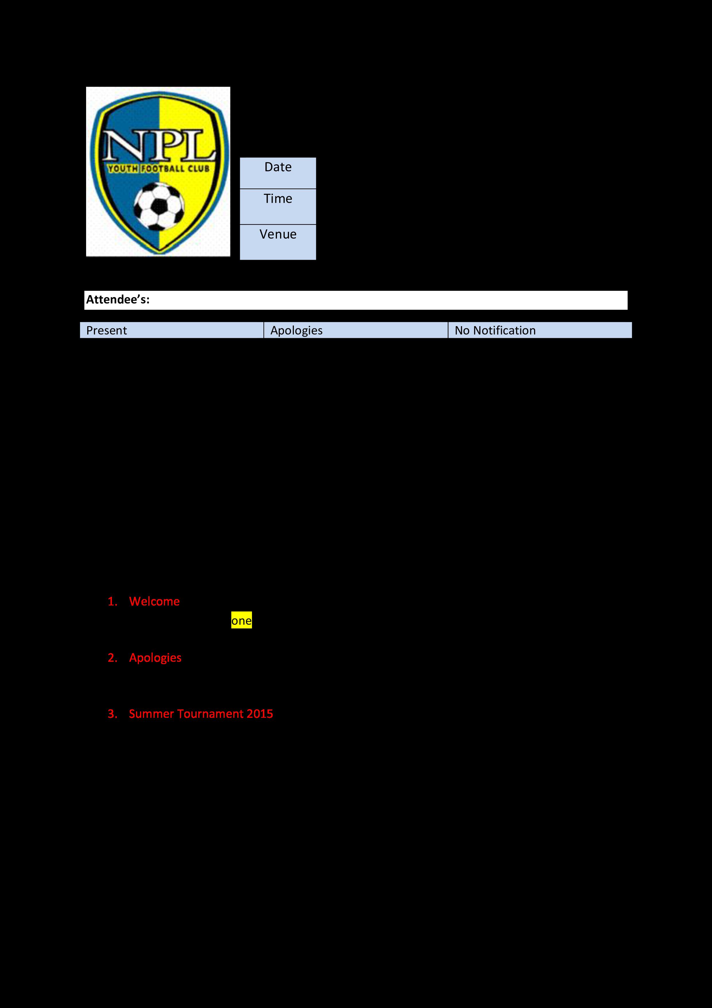 football club meeting agenda main image download template