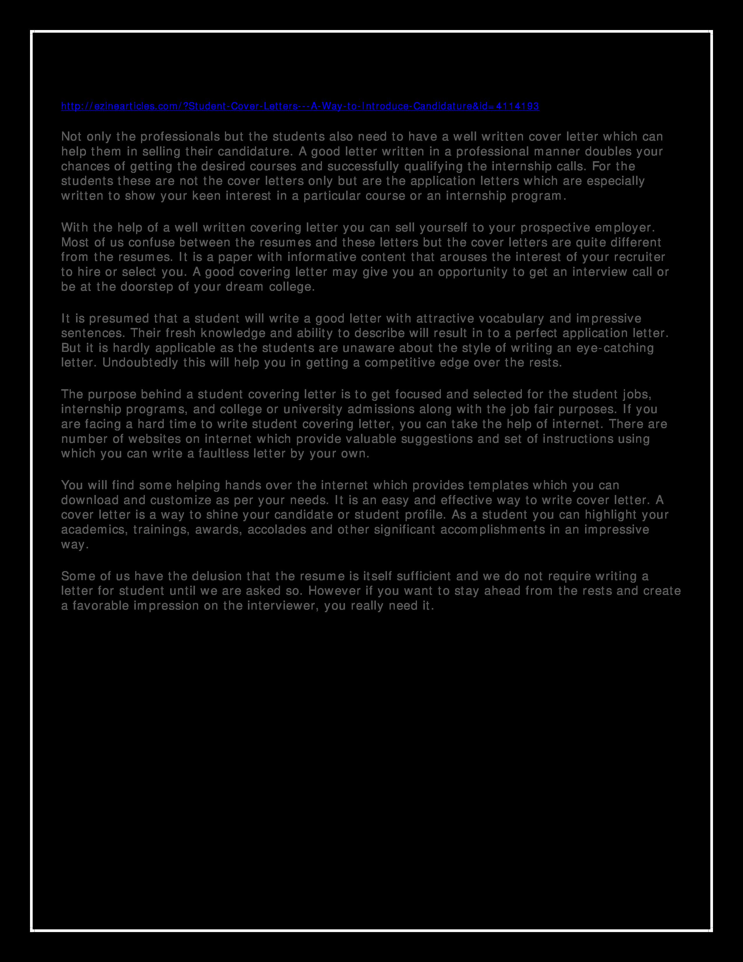 Internship Student | Templates at allbusinesstemplates.com