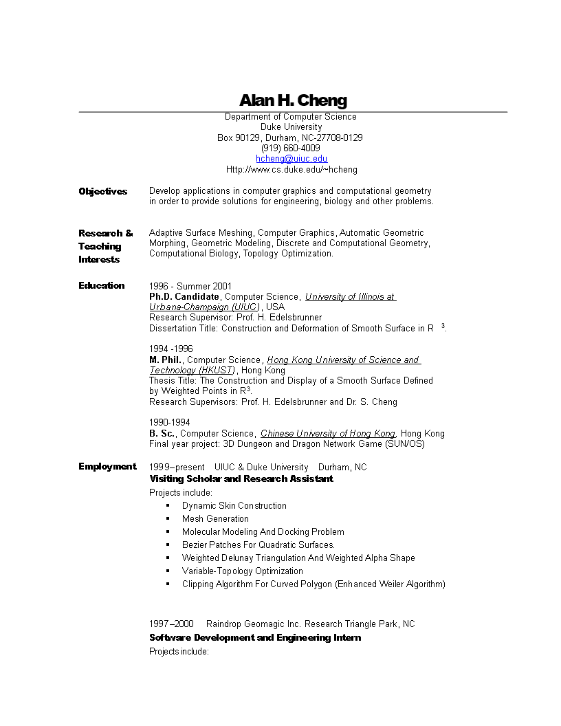 Computer Science Engineering Resume | Templates at