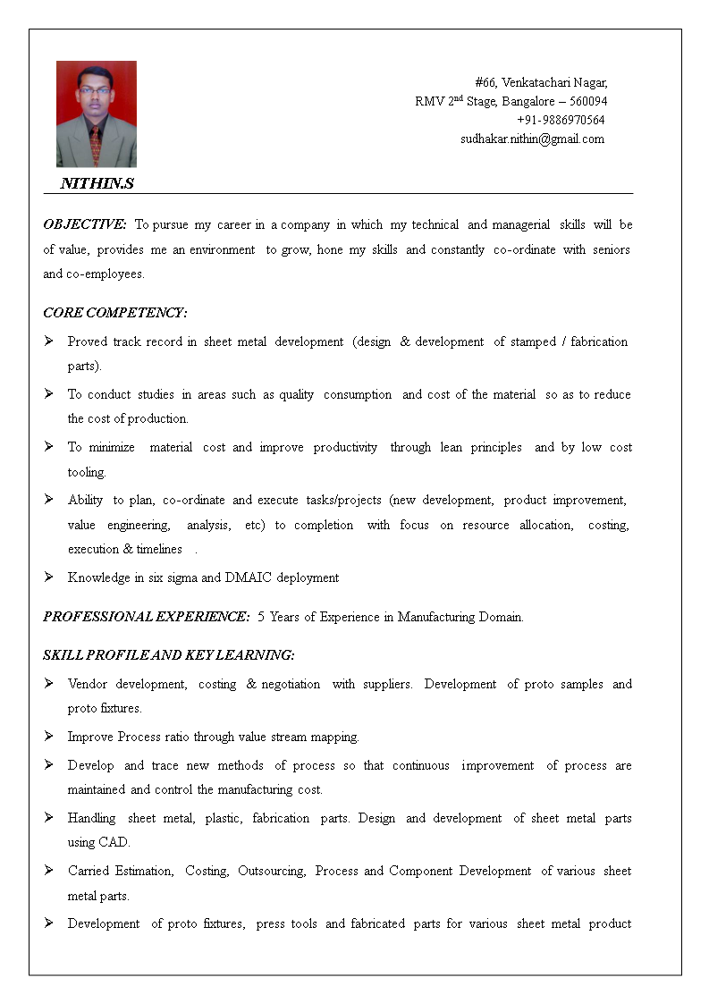 Free Product Development Manager Resume | Templates at ...