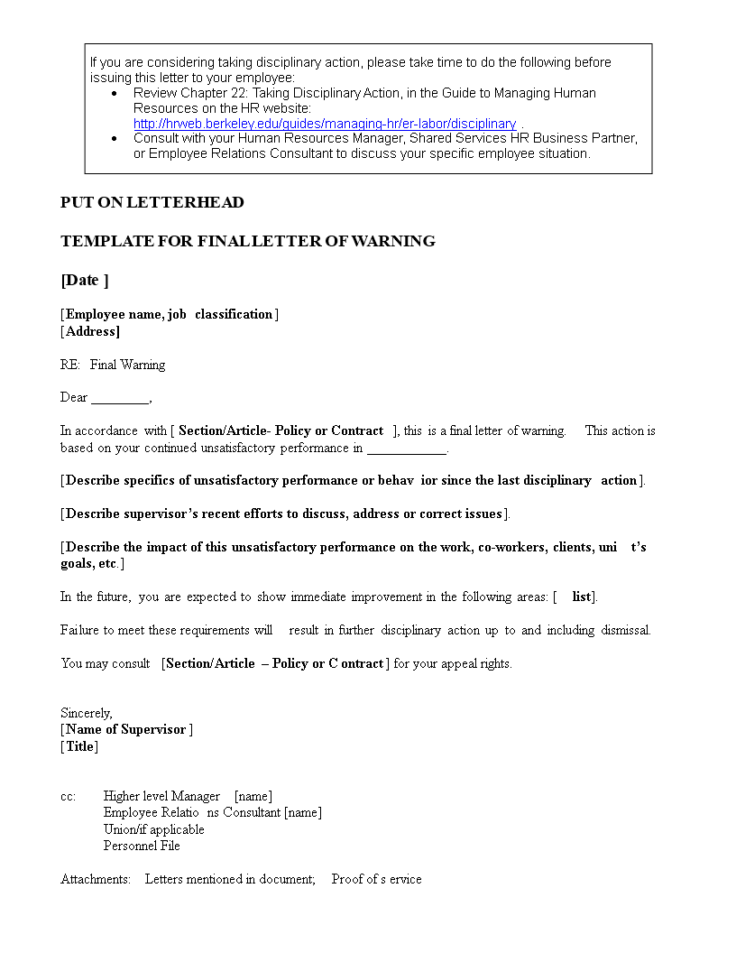 Warning Letter For Poor Work Performance from www.allbusinesstemplates.com