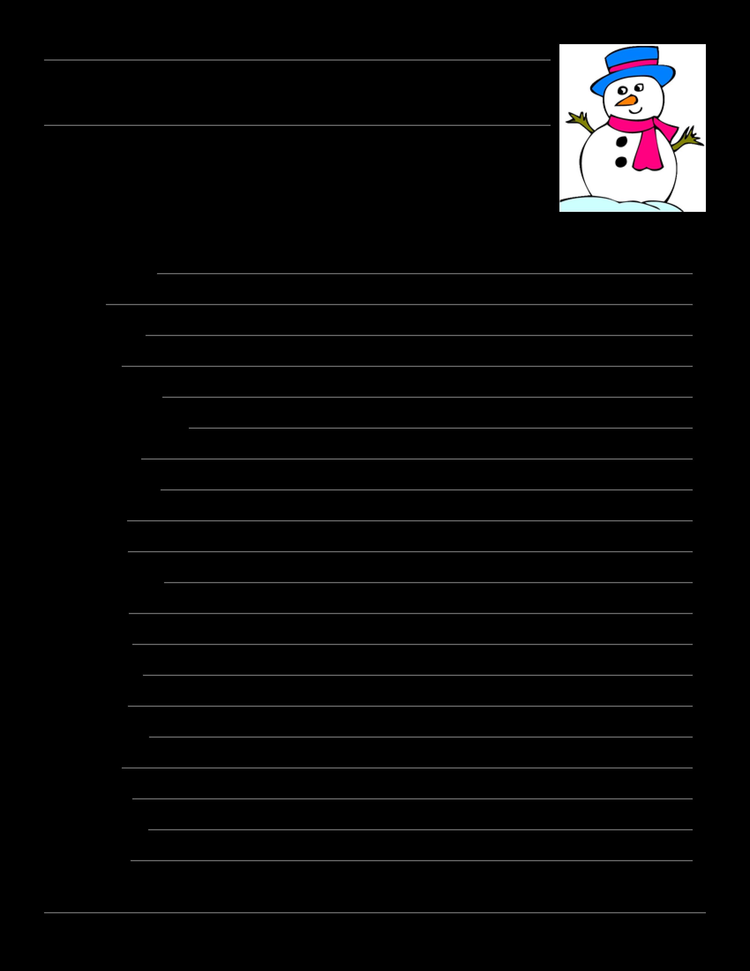 free winter word scramble templates at