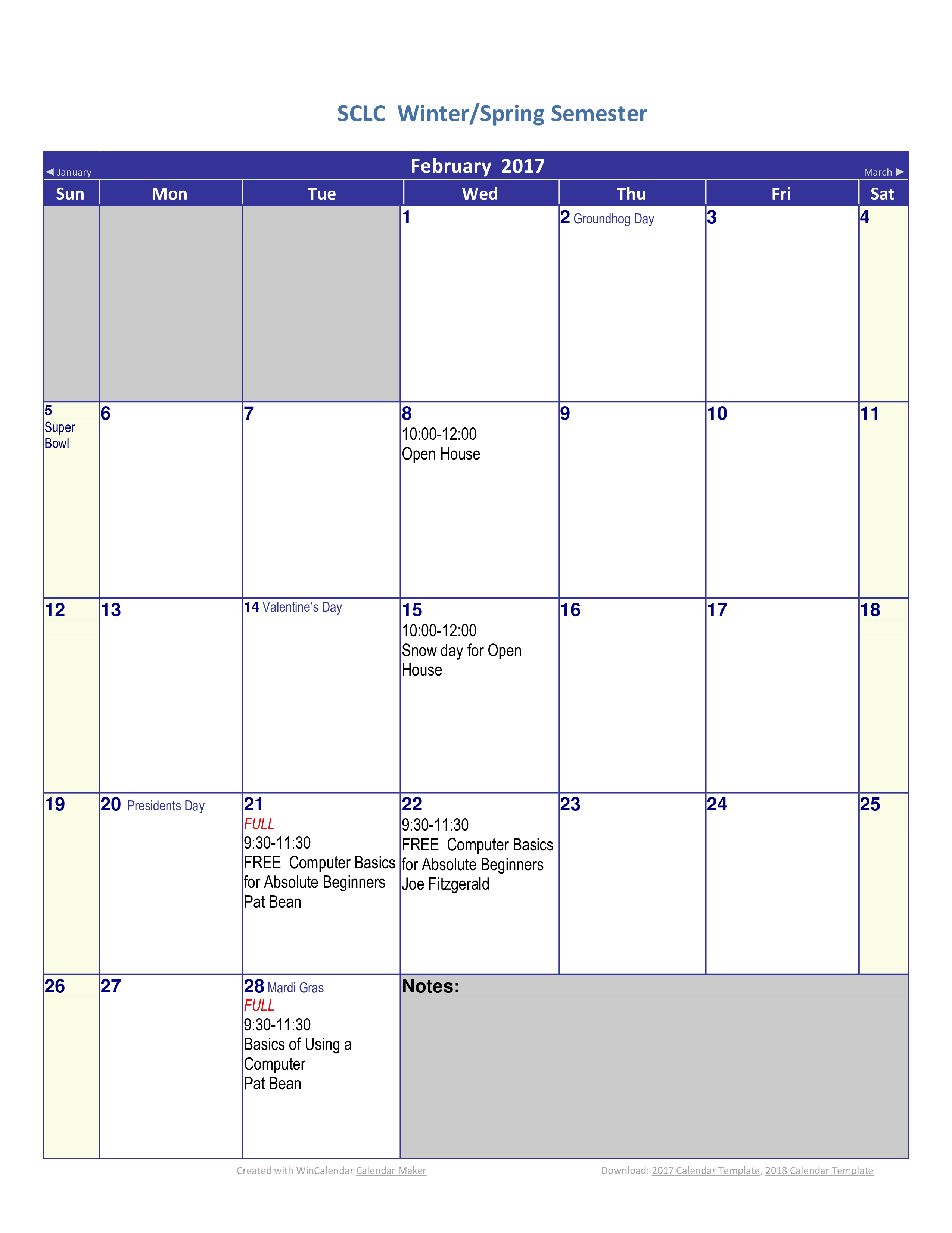 free printable blank house calendar templates at
