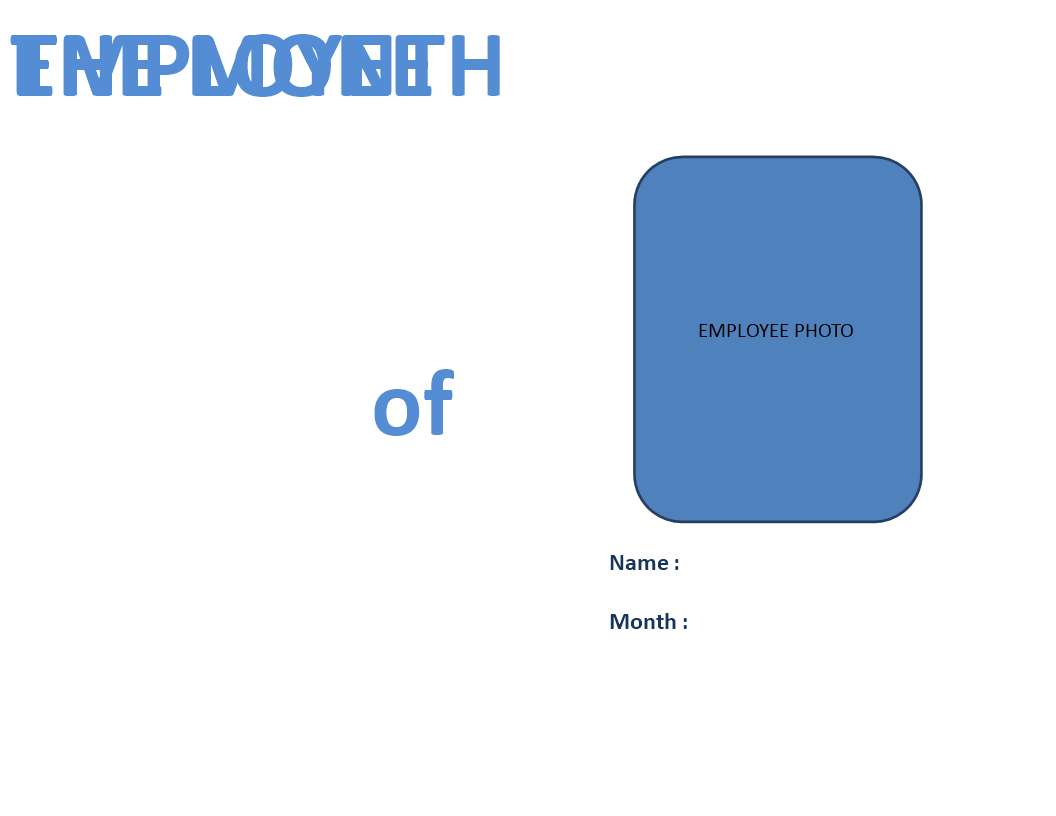Free Employee Of The Month Certificate With Photo Templates At
