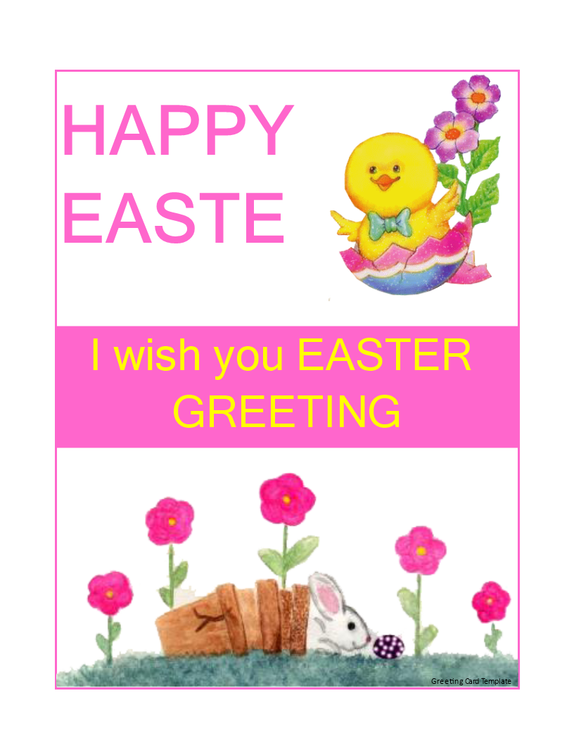Free Easter Greeting Card Templates At Allbusinesstemplates