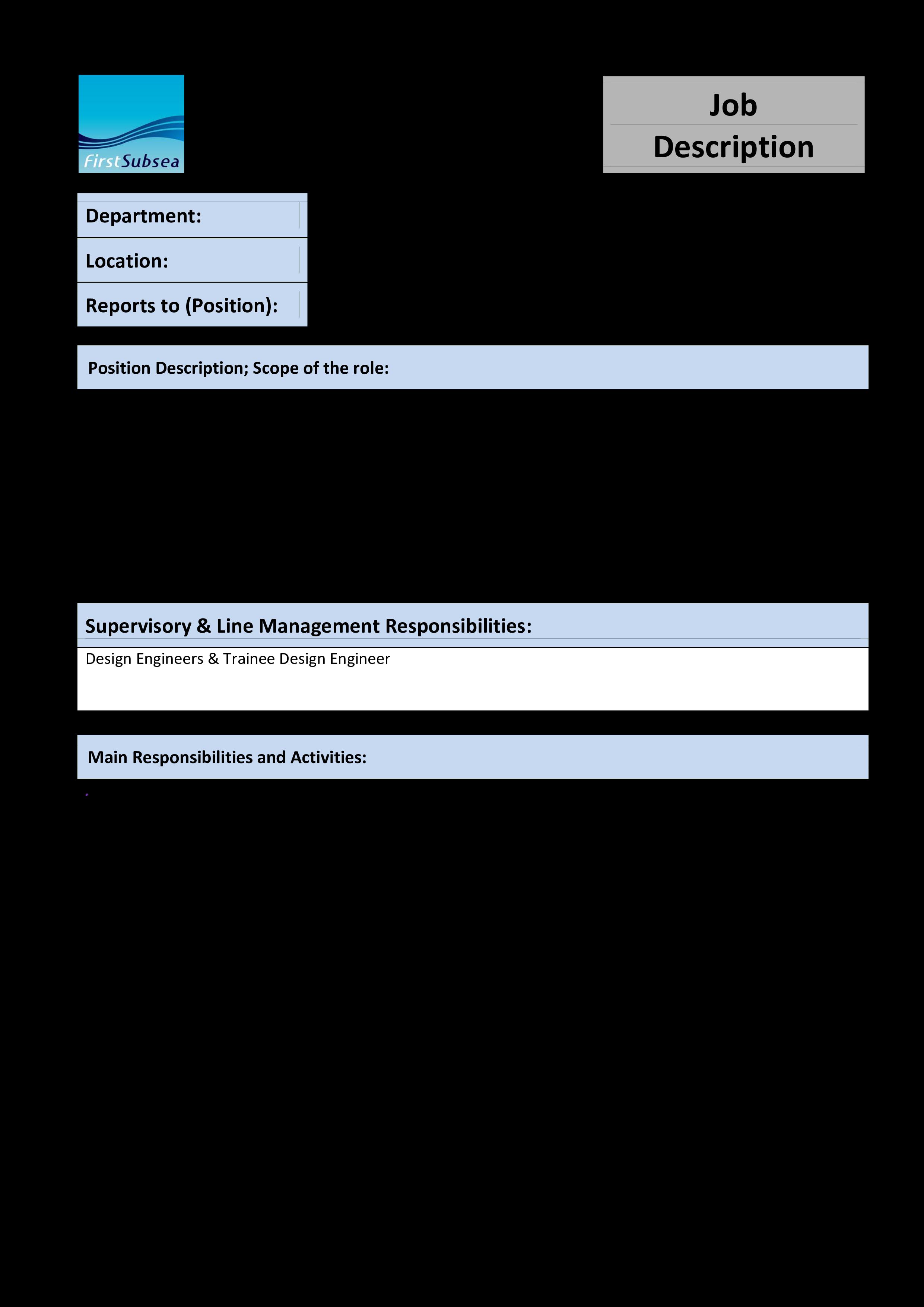 Kostenloses Design Engineer Job Description Inside Job Descriptions Template Word