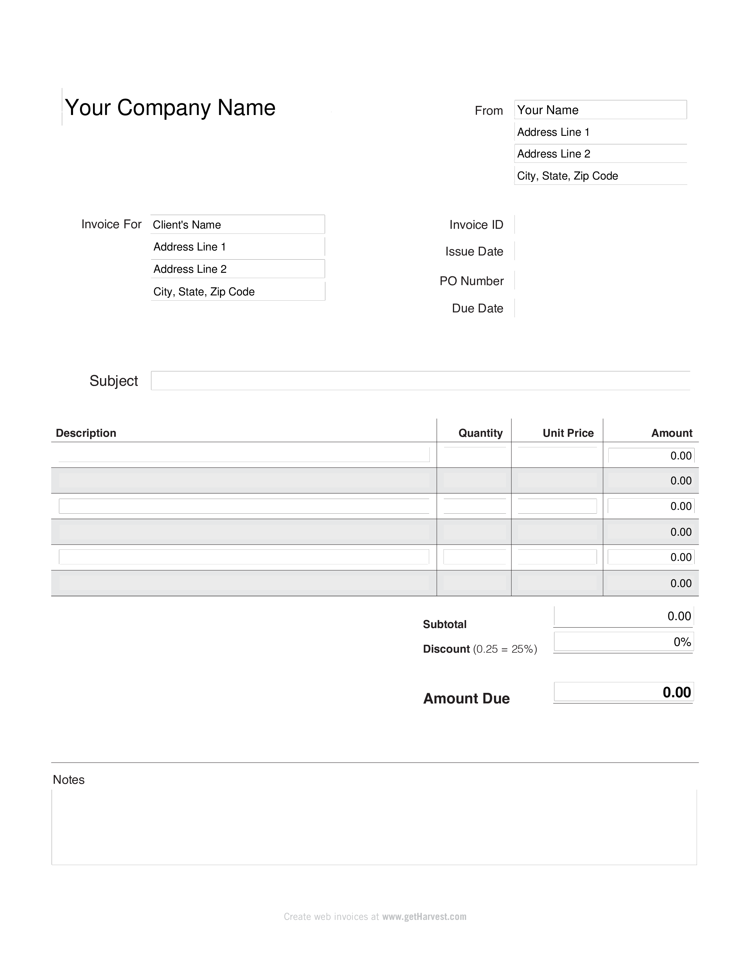 Free Home Bakery Invoice Templates At Allbusinesstemplates