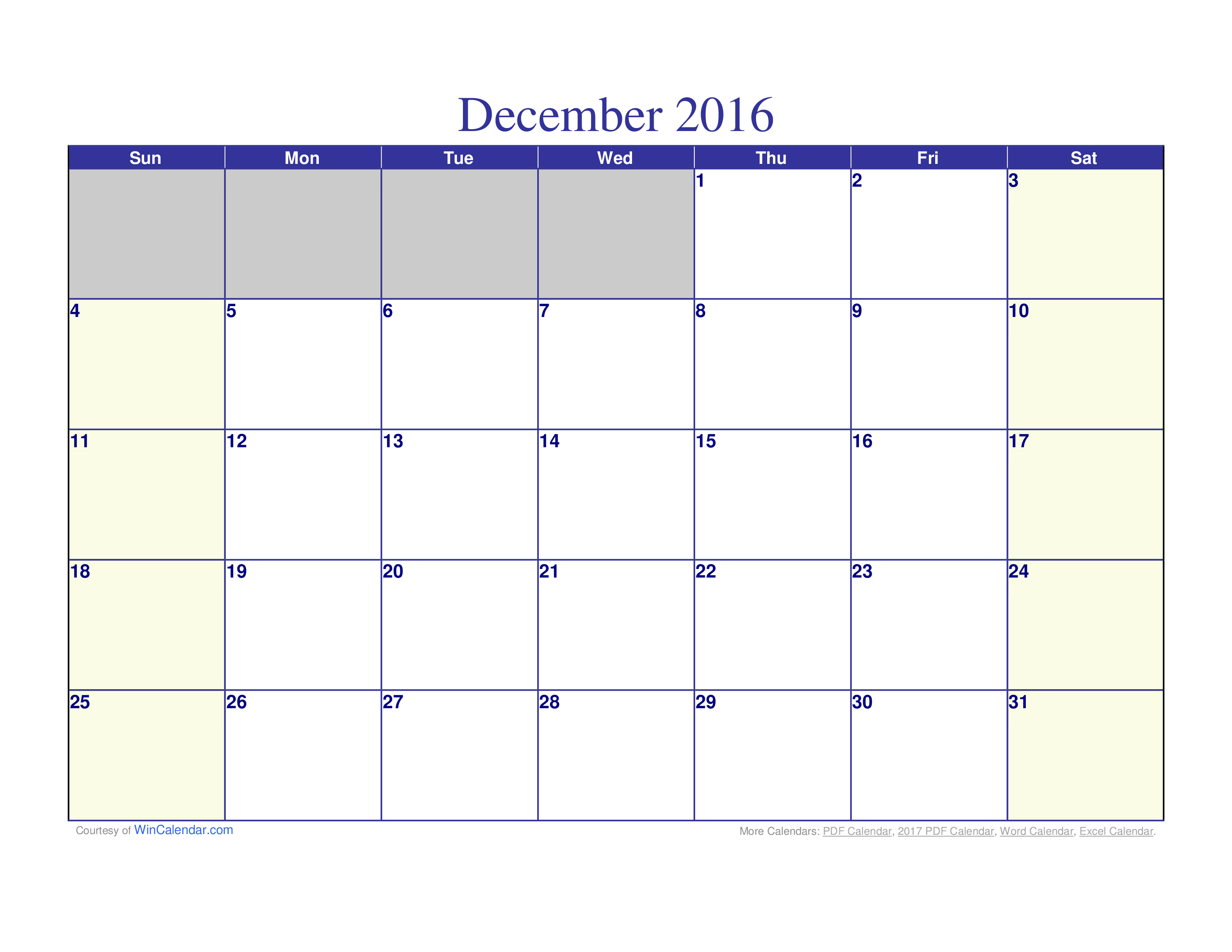 Printable Calendar Monthly template main image