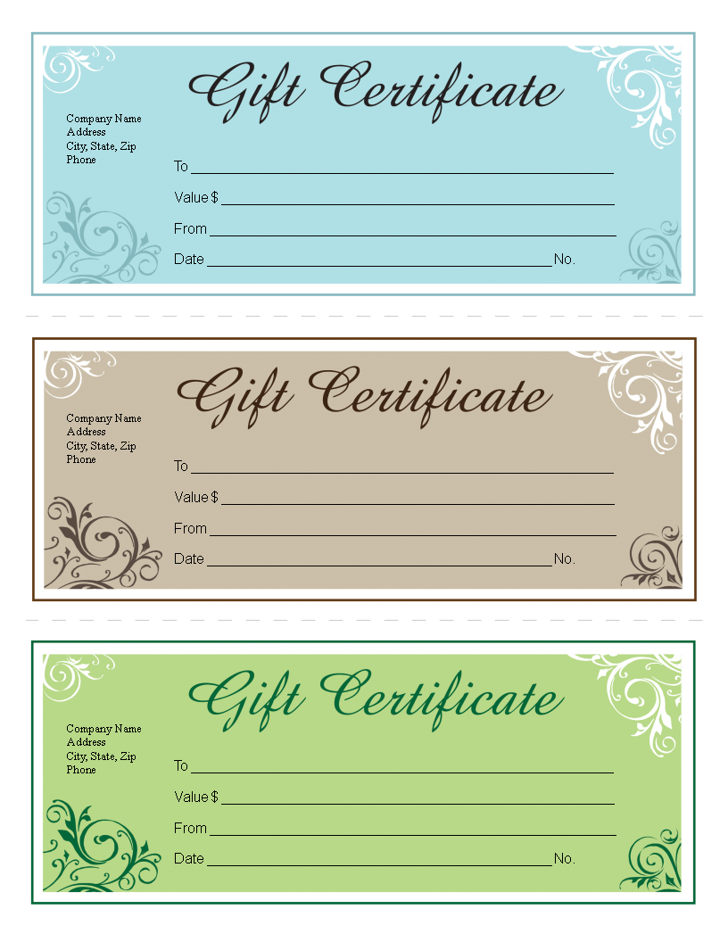 Gift certificate template free editable main image