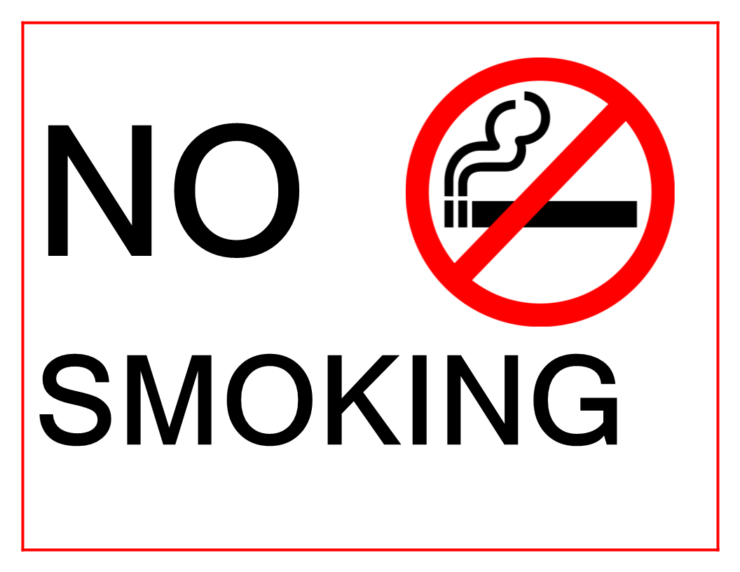 Free No Smoking Sign Word Docx | Templates at allbusinesstemplates.com