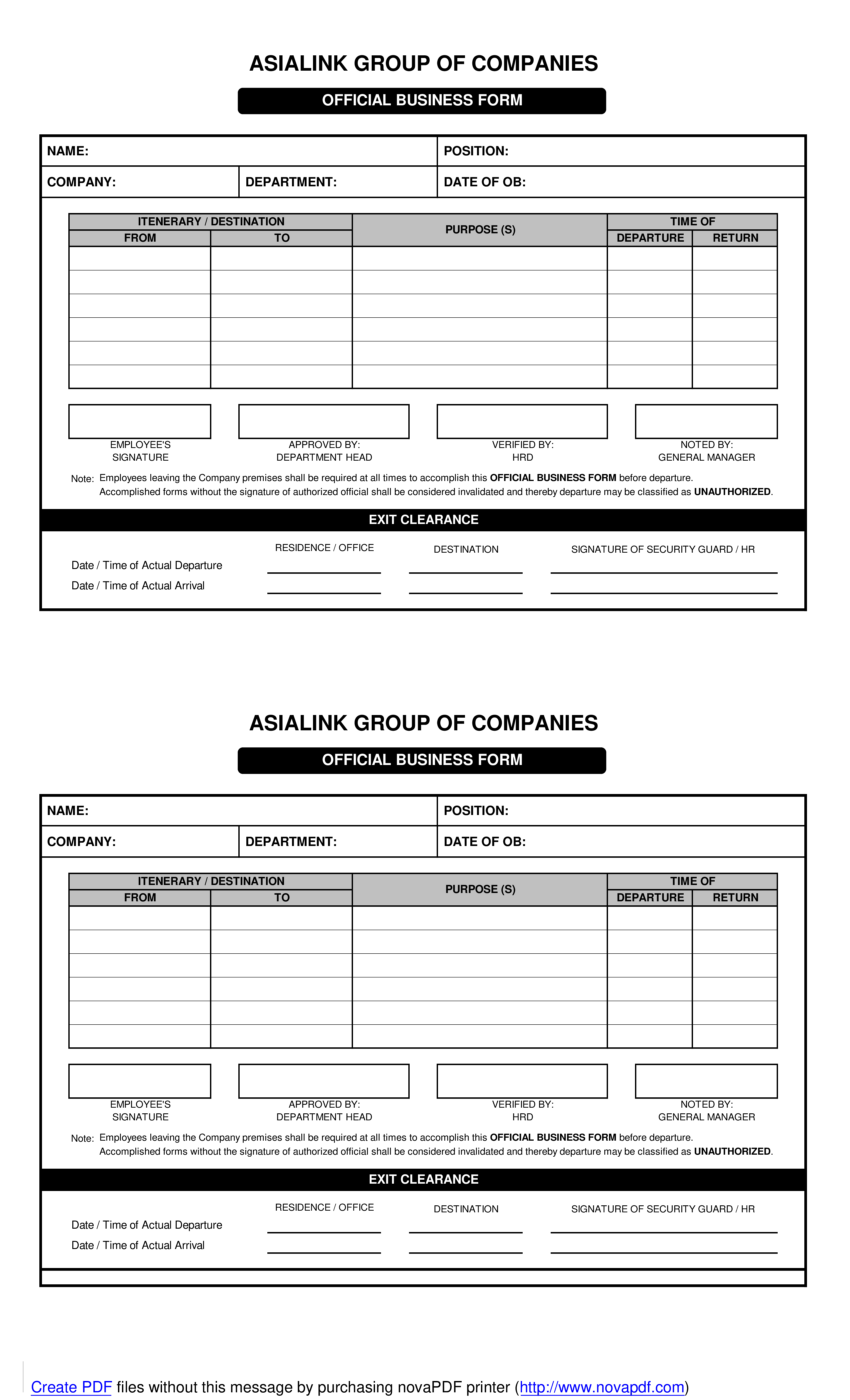 photo regarding Business Form Templates identified as Formal Place of work Type Templates at