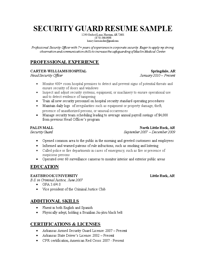 Officer Resume Templates At Allbusinesstemplates Com