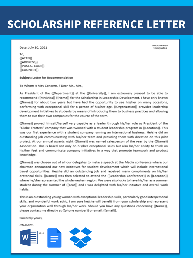Free Graduate School Academic Recommendation Letter | Templates at ...