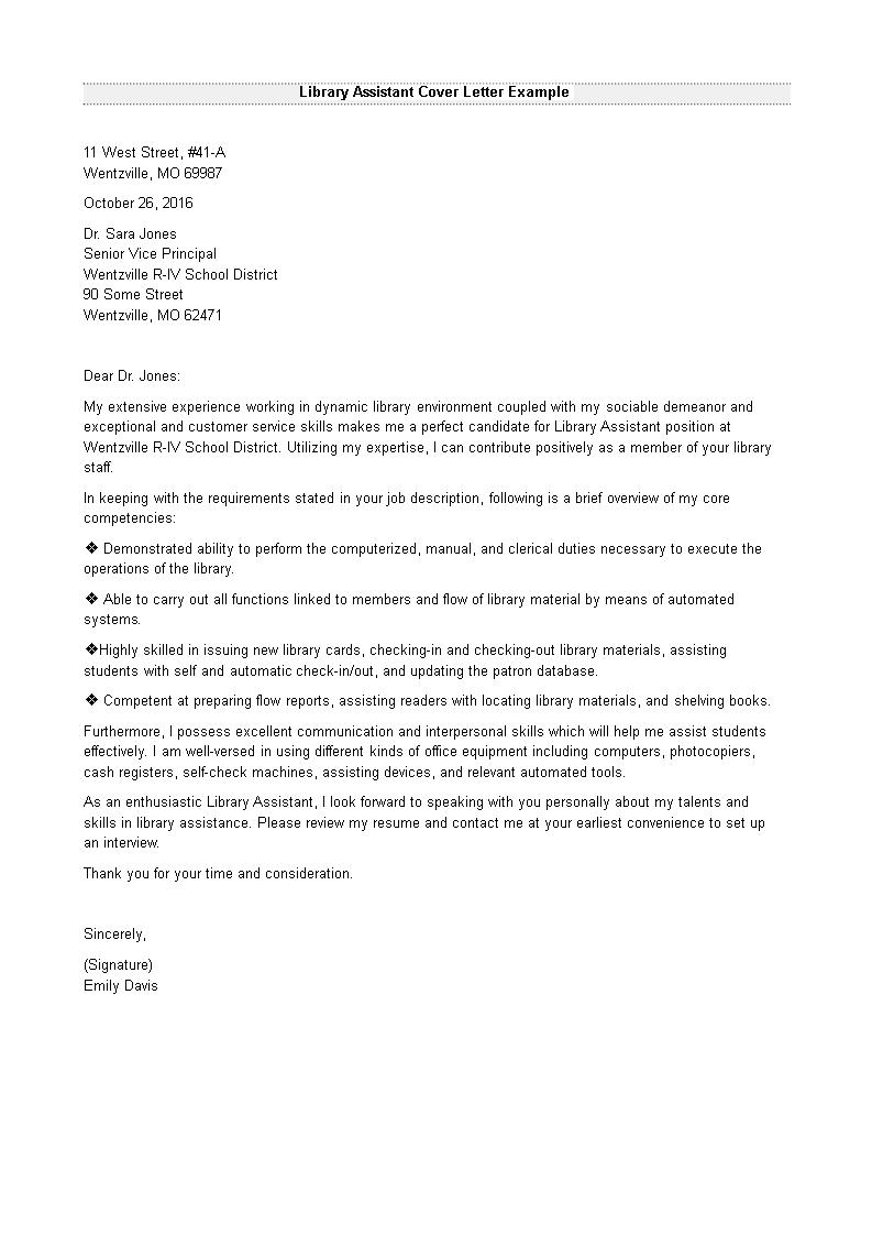Assistant Cover Letter Templates At Allbusinesstemplates Com