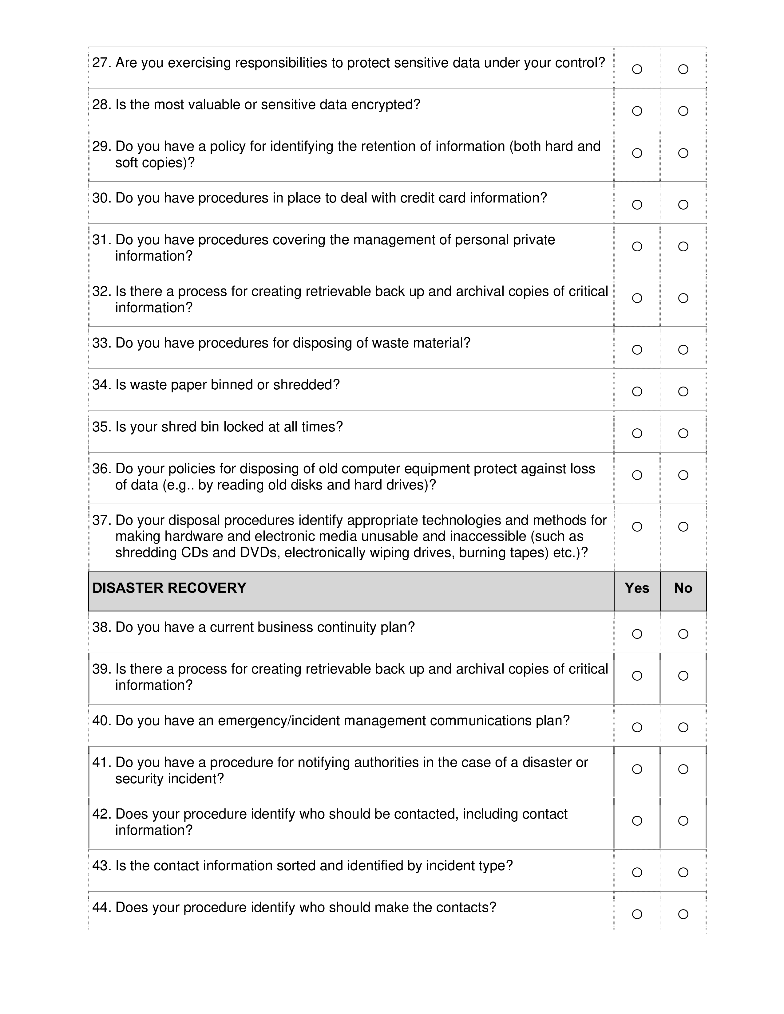 Security Audit Checklist main image