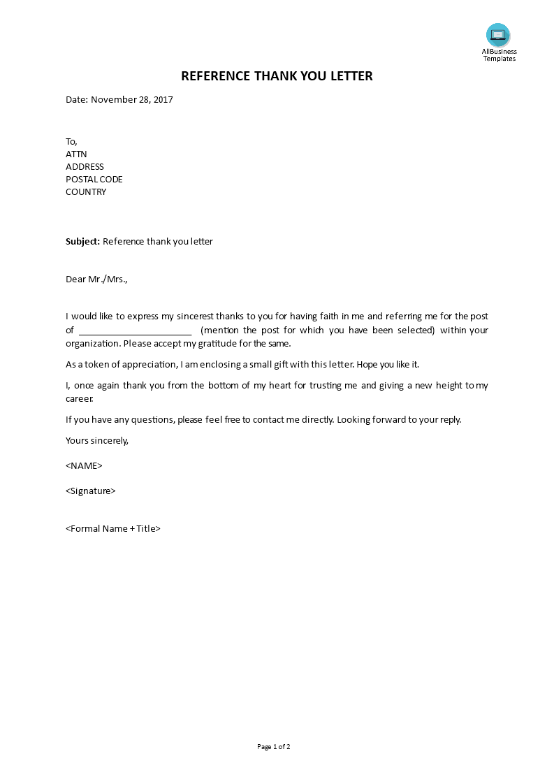 thank you letter for recommendation free reference thank you letter templates at 25108 | e6ec2a6a 71fc 422f b30e 1843dece8a08 1