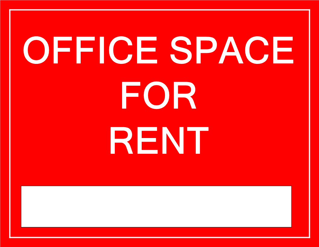 free printable office space for rent sign template templates at