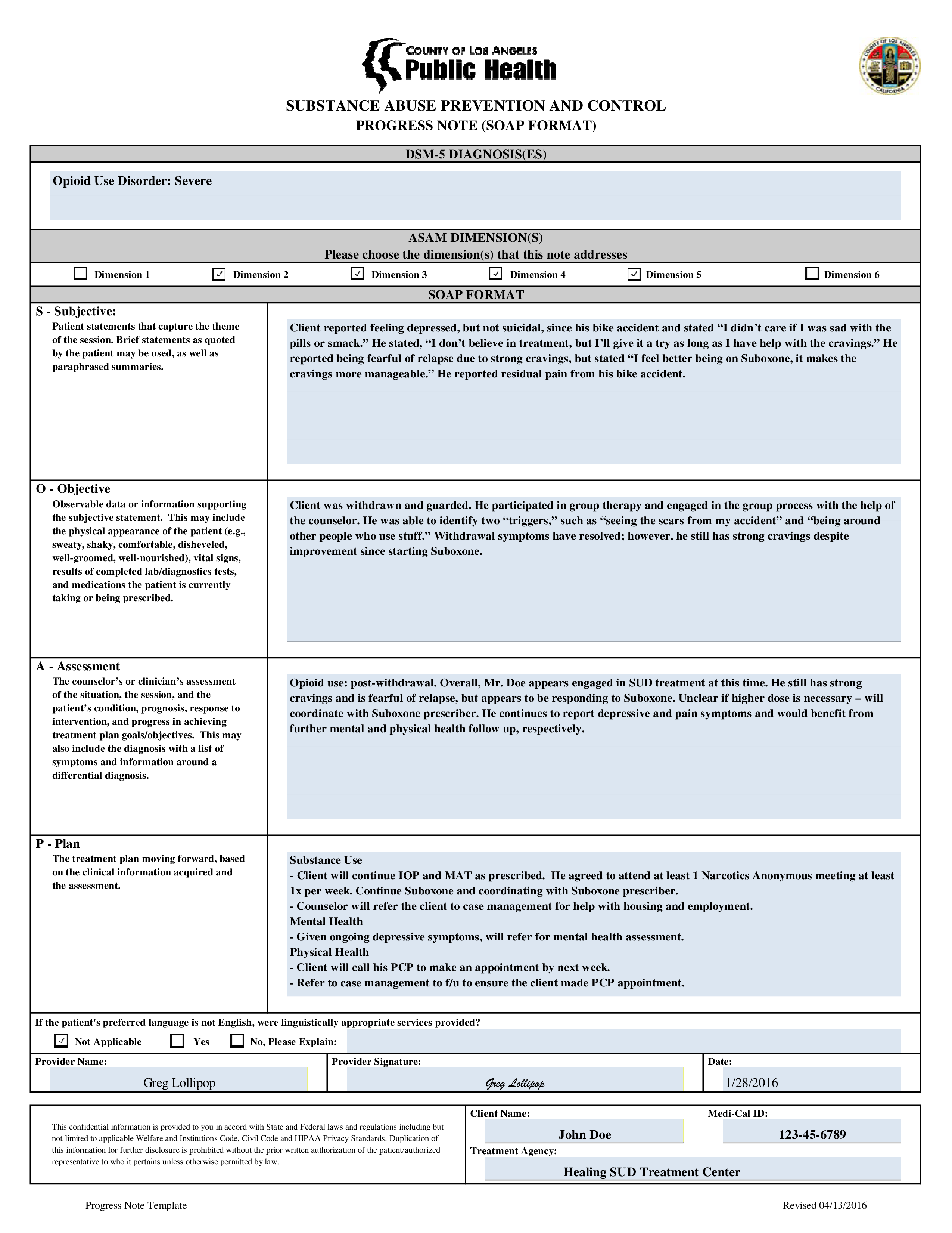 free clinical progress note templates at