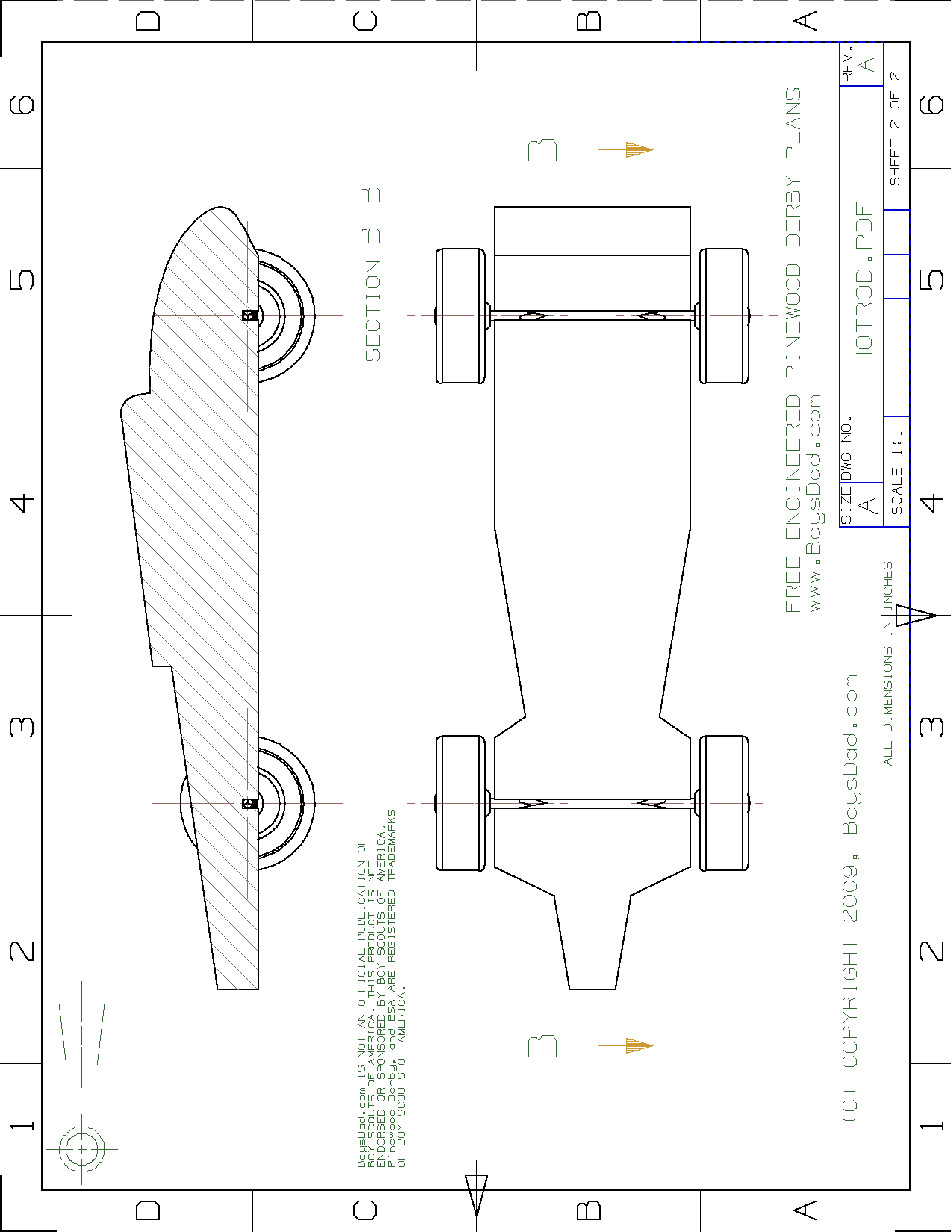 Free derby speed hot rod design template templates at for Formula 1 pinewood derby car template