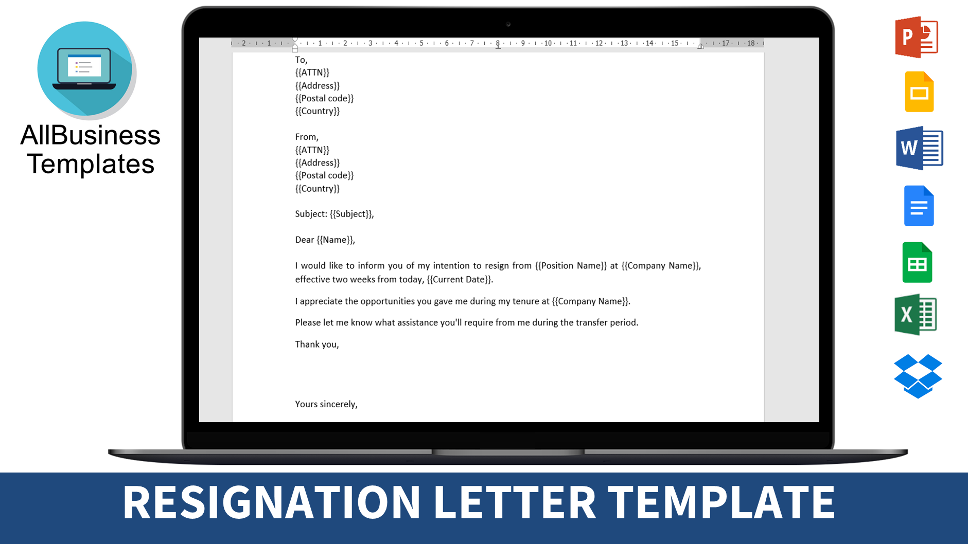 resignation letter for project to boss main image download template