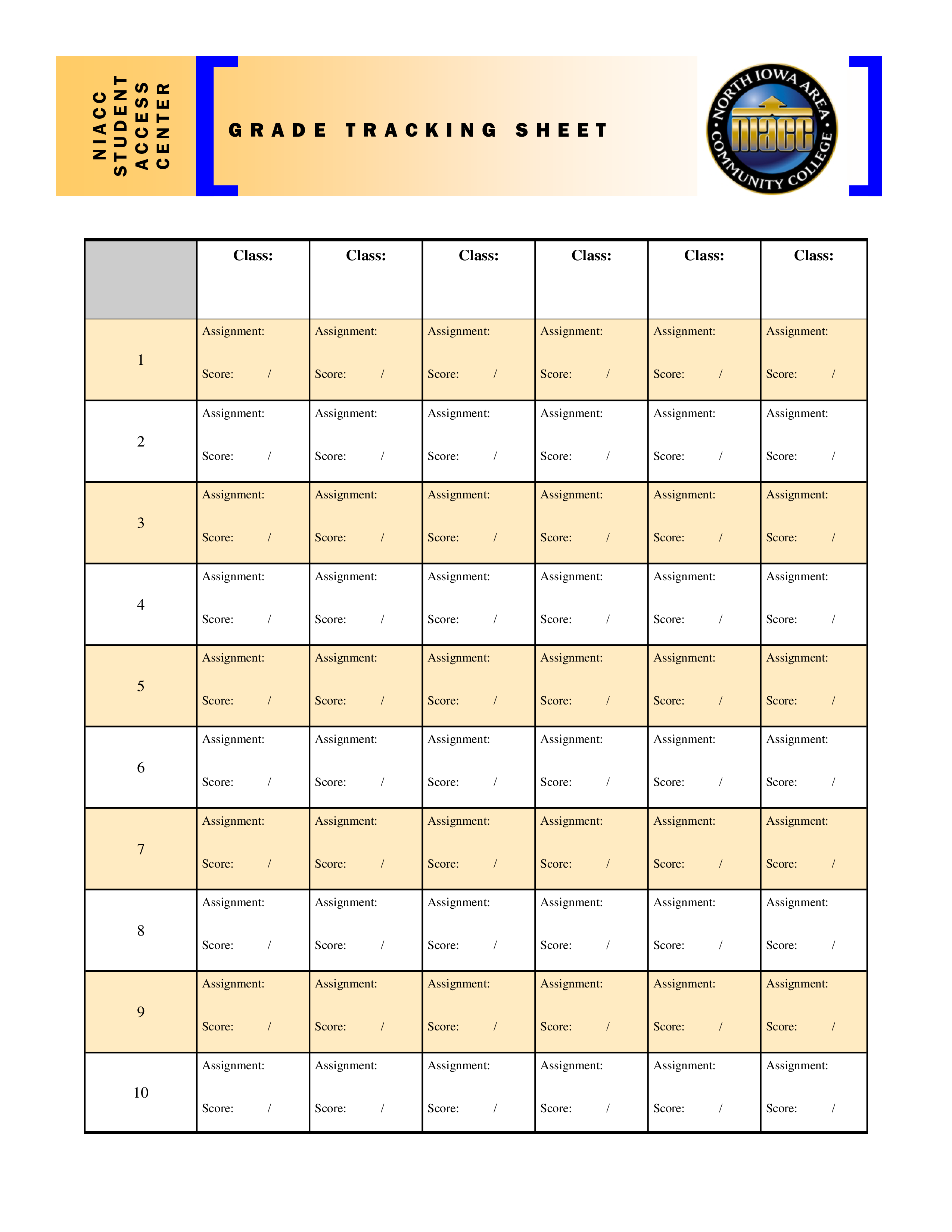 Free grade tracking sheet templates at allbusinesstemplates grade tracking sheet main image download template maxwellsz