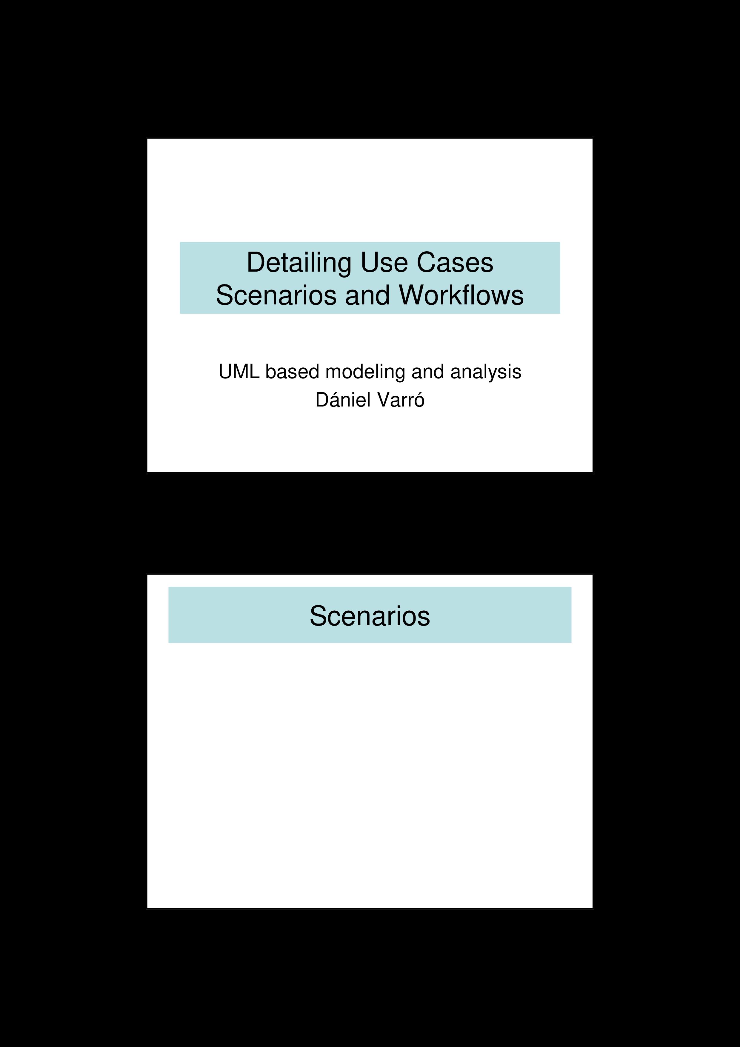 Free Use Case Scenario   Templates at allbusinesstemplates.com