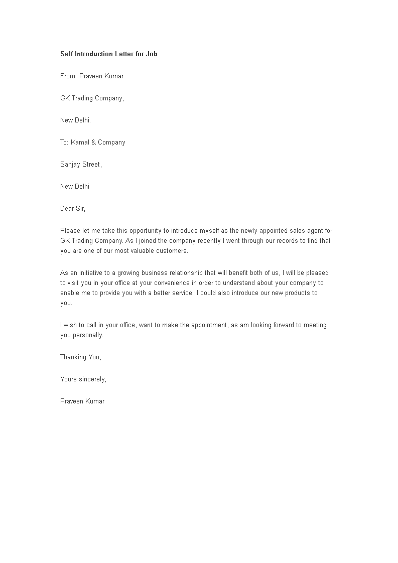 Introduction letter template self Love letters