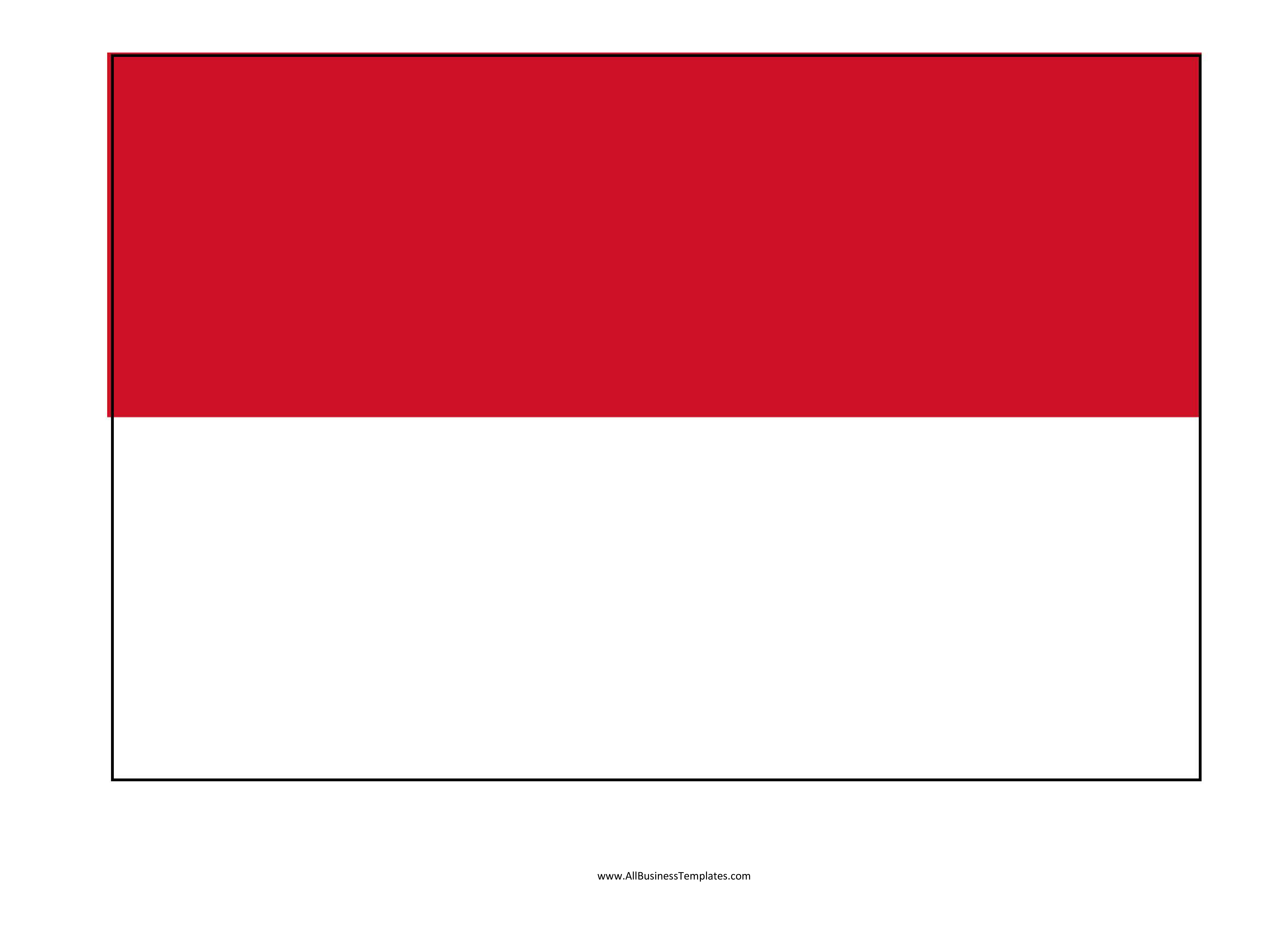 indonesia printable flag
