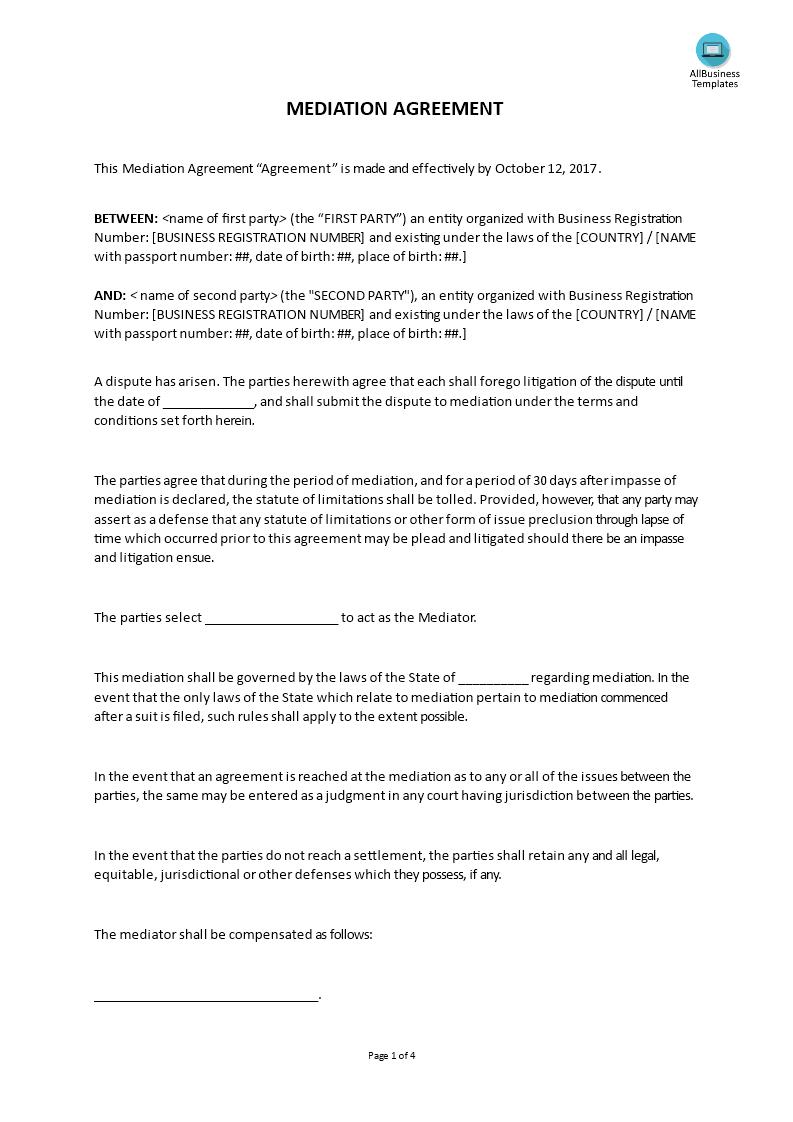 Sample Settlement Agreement Letter from www.allbusinesstemplates.com