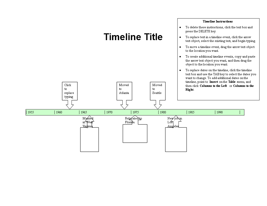 free simple timeline templates at