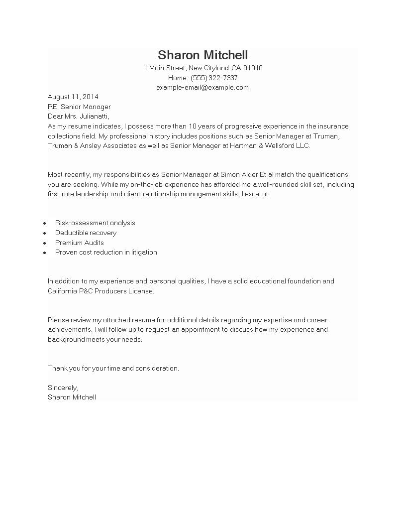 Free job application letter senior manager templates at job application letter senior manager main image spiritdancerdesigns Choice Image
