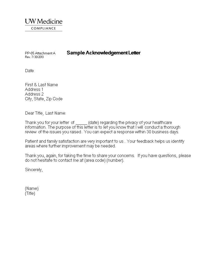 Free business acknowledgement letter format templates at business acknowledgement letter format main image spiritdancerdesigns Image collections