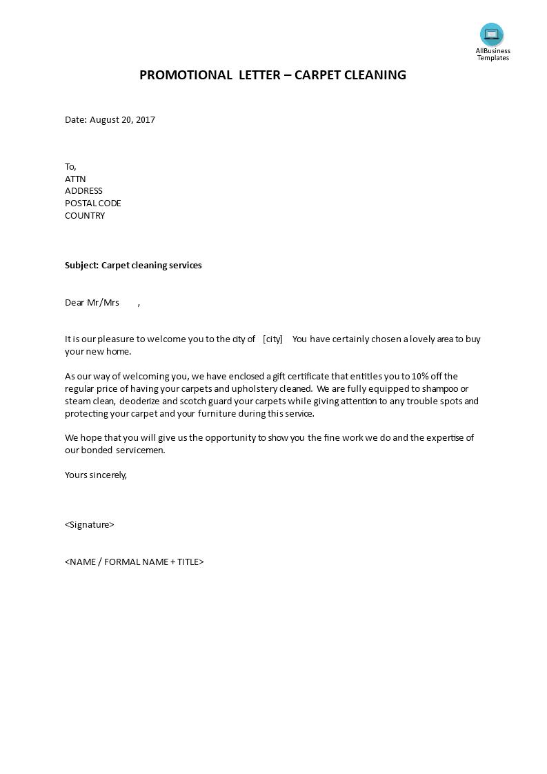 promotional letter