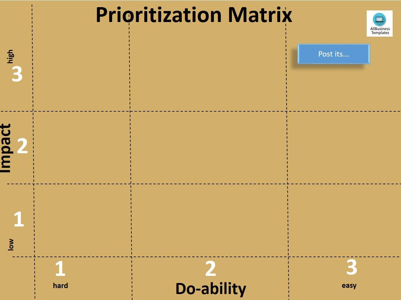 free prioritization matrix a3 templates at. Black Bedroom Furniture Sets. Home Design Ideas