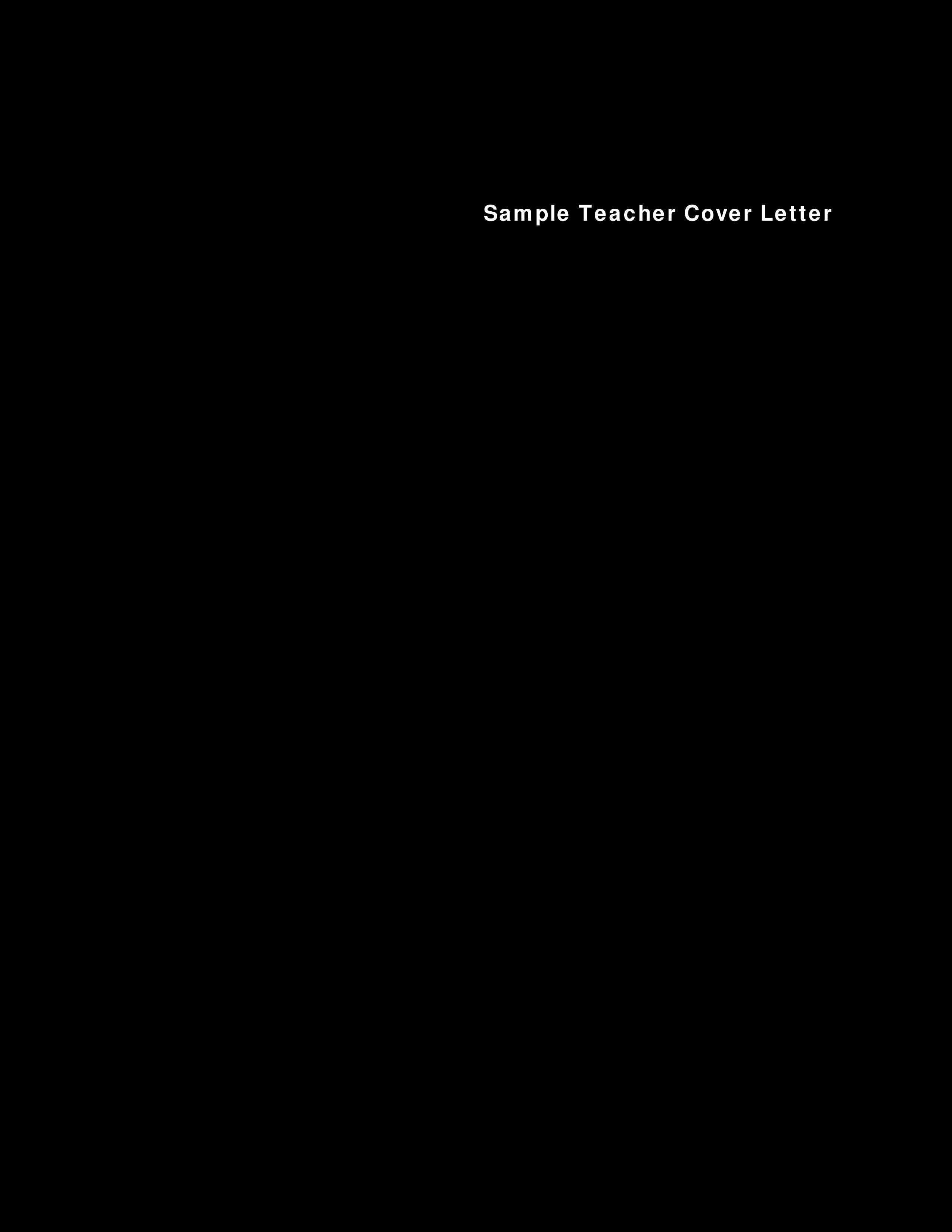 Resume Cover Letter For Teachers from www.allbusinesstemplates.com