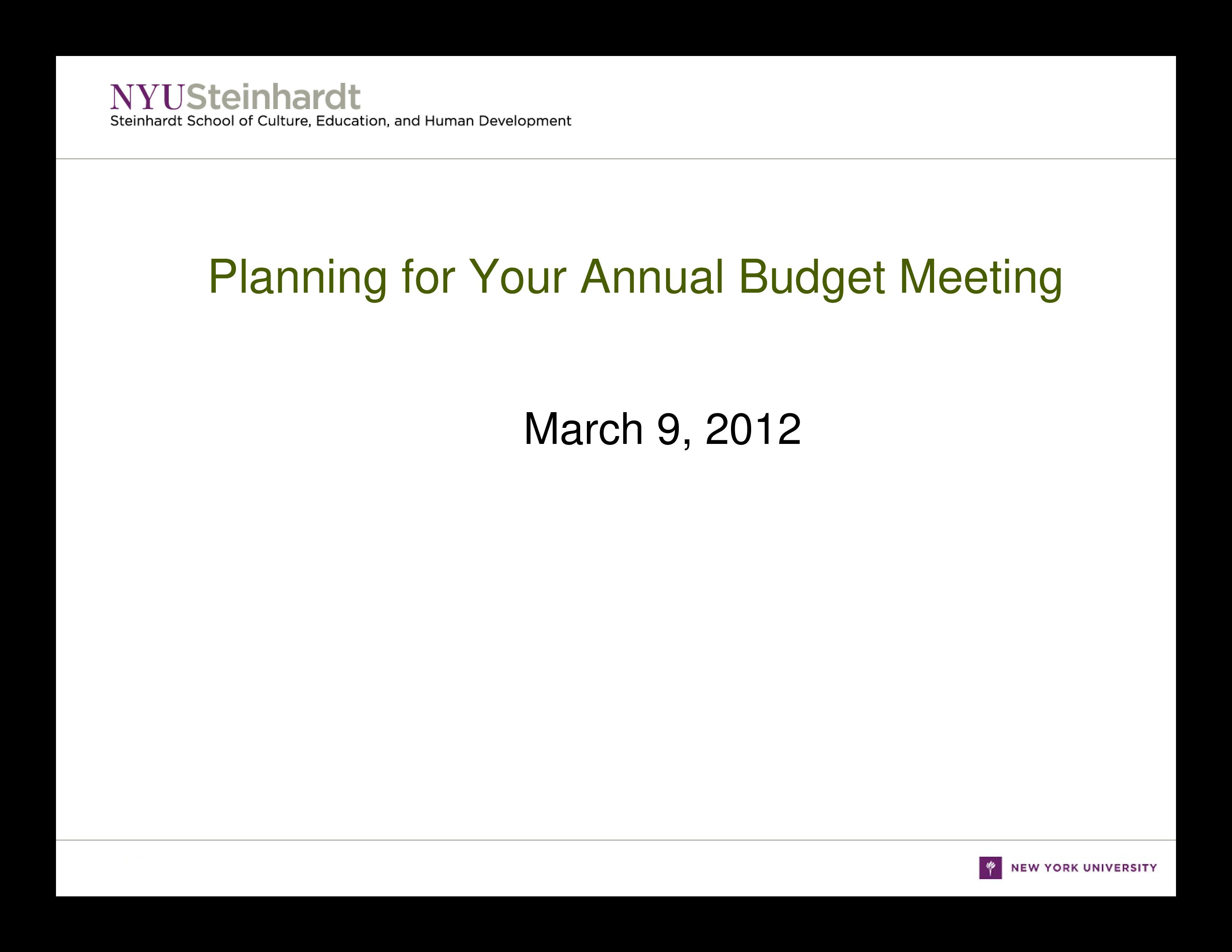 free budget planning meeting agenda templates at