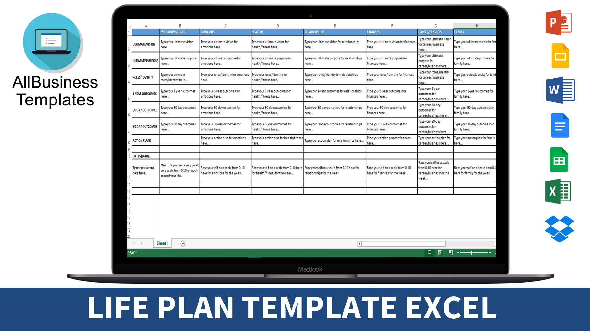 Strategic Life Plan Vision Templates At Allbusinesstemplates Com