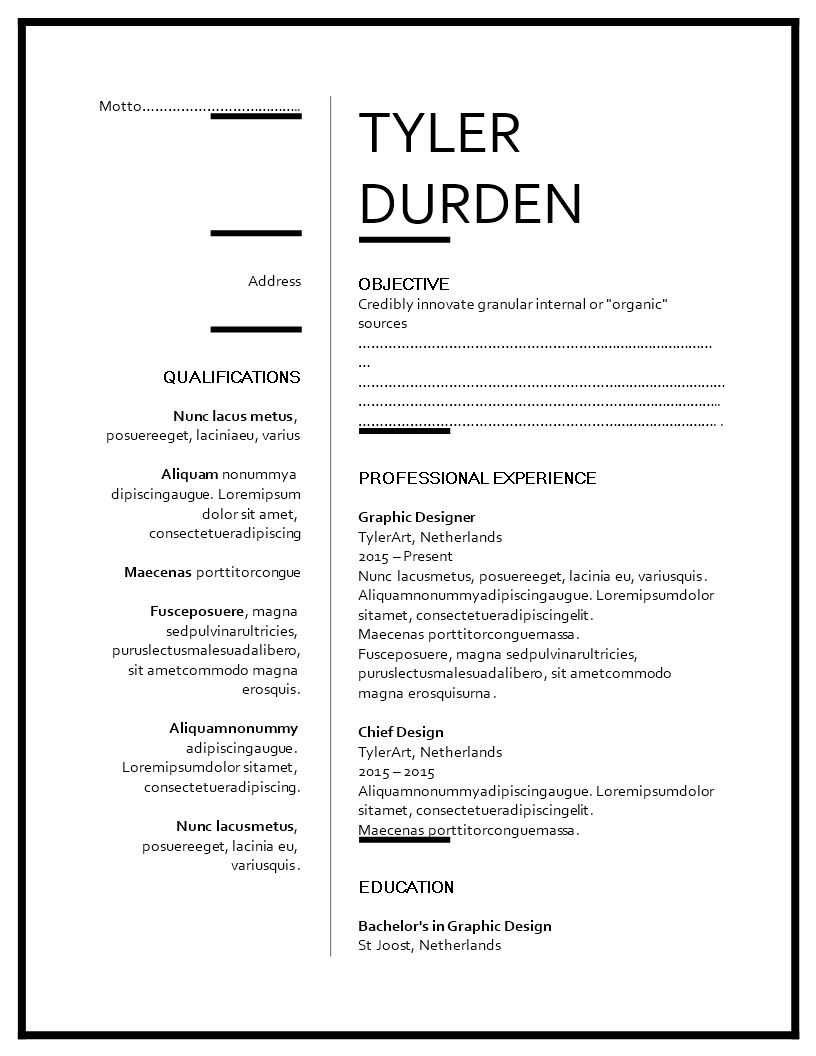 Creative Graphic Designer Resume Templates At
