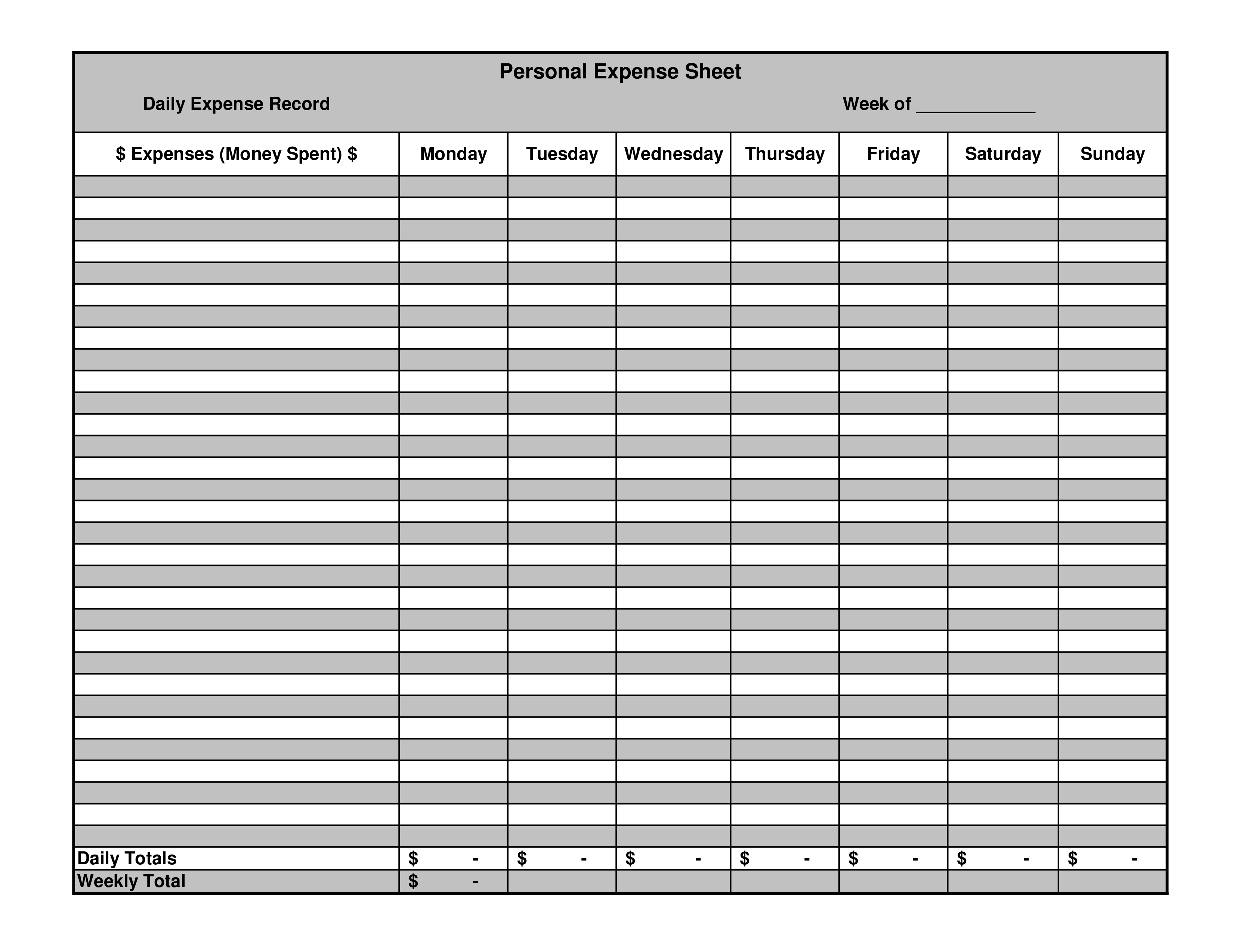 Expense Record Template from www.allbusinesstemplates.com