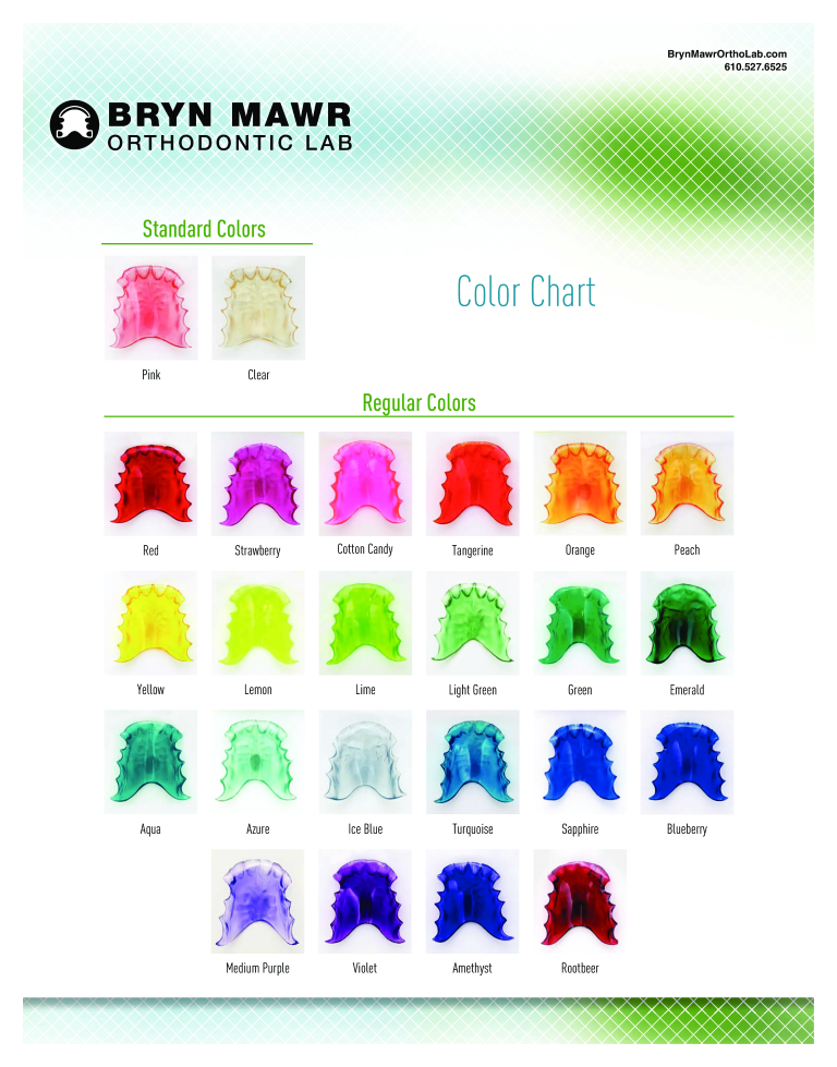 Neon Food Coloring Chart main image