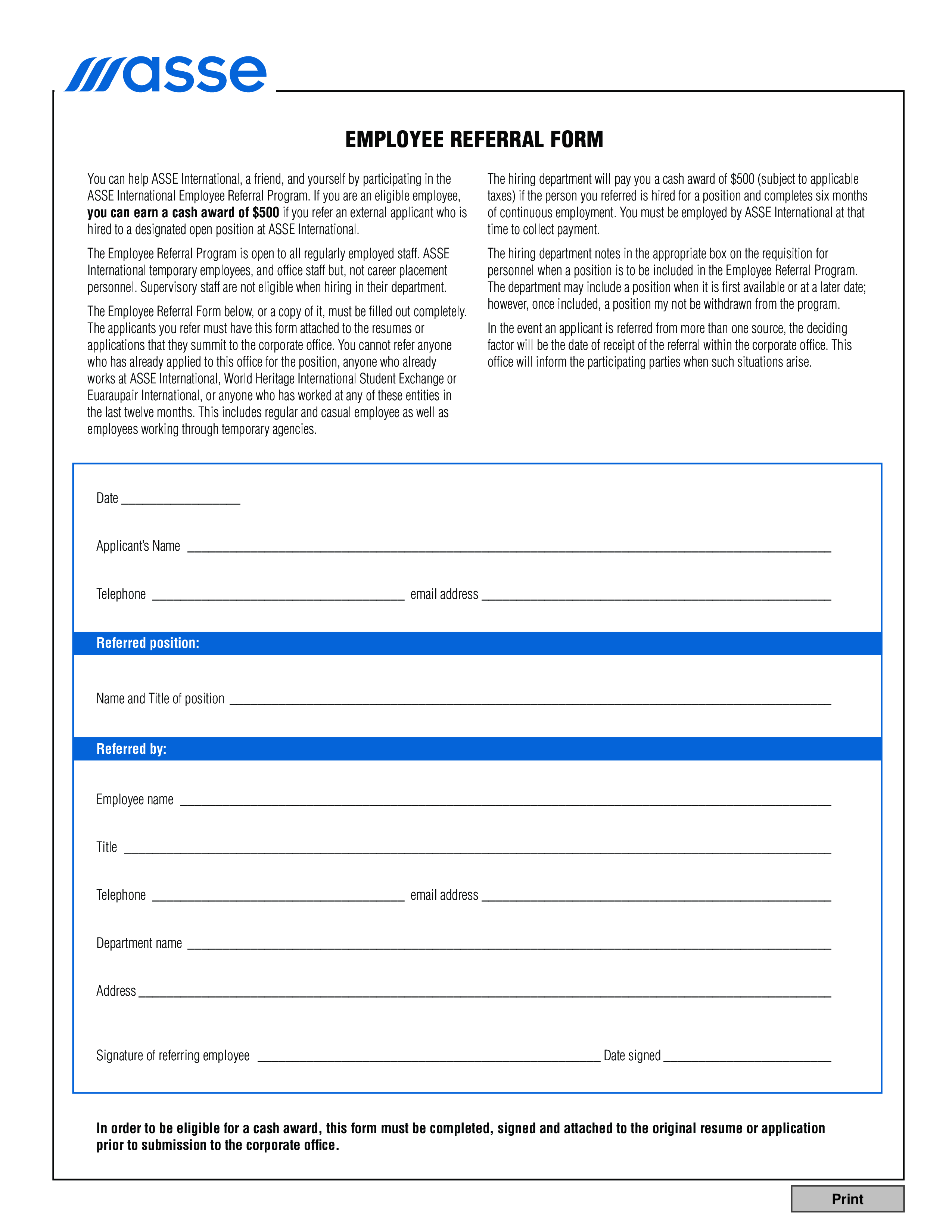 Employee Referral Form Template from www.allbusinesstemplates.com