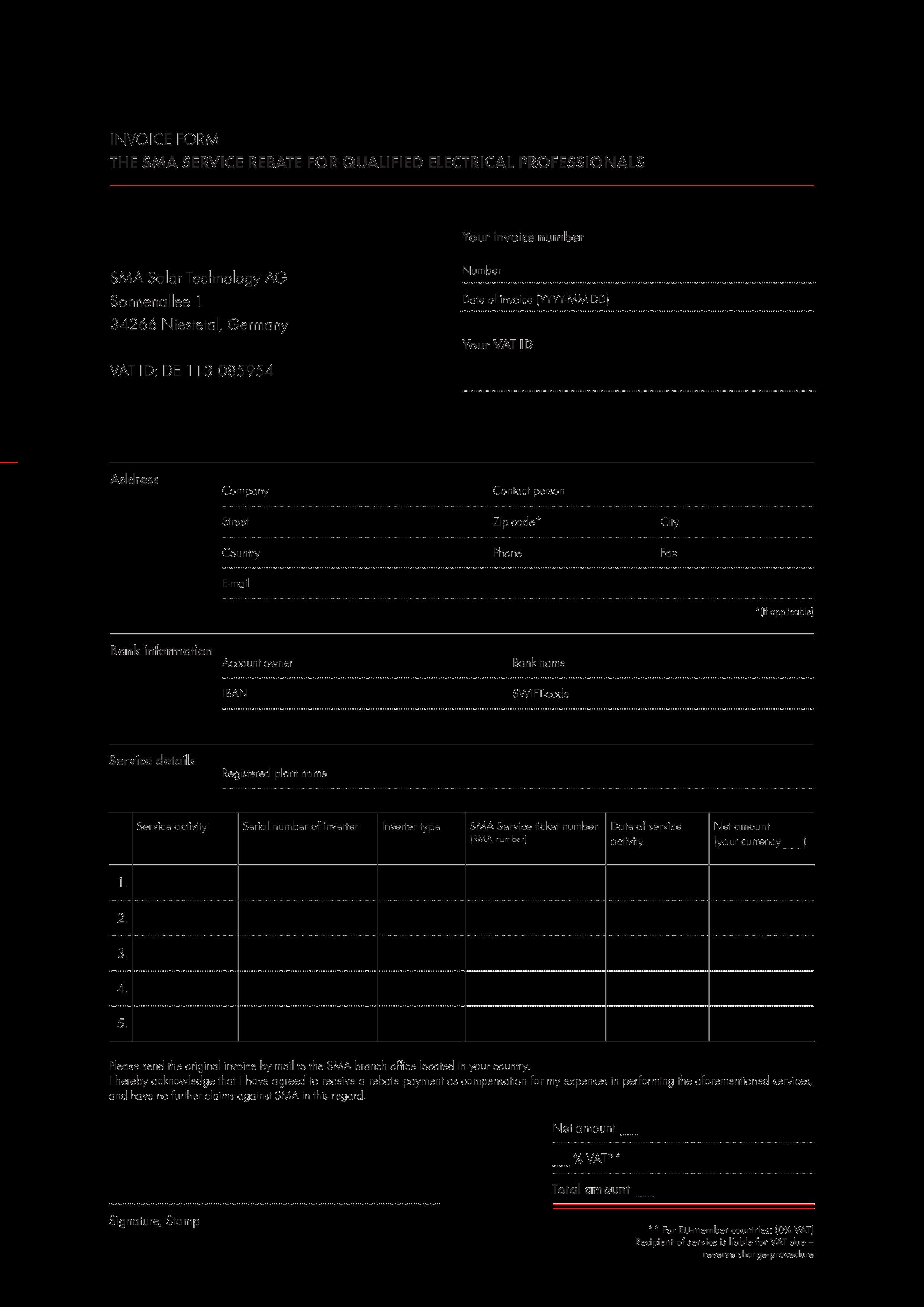 Invoice Form Templates At Allbusinesstemplates Com