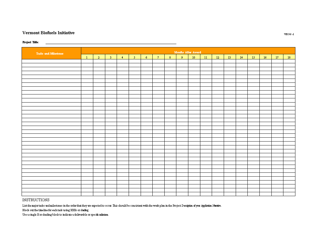 Free Excel Project Timeline Templates At Allbusinesstemplatescom - Template excel project timeline
